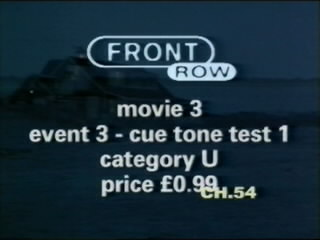 Front row movie guide